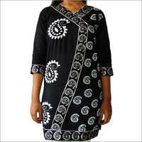 Designer Cotton Printed Kurti with Lace