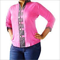 Designer Rayon Shirt Denim Collar with Loops
