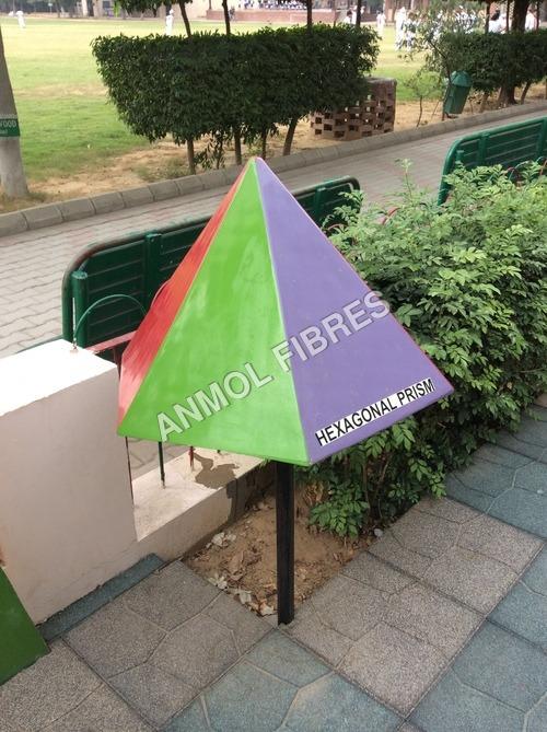 Math park-hexagonal pyramid