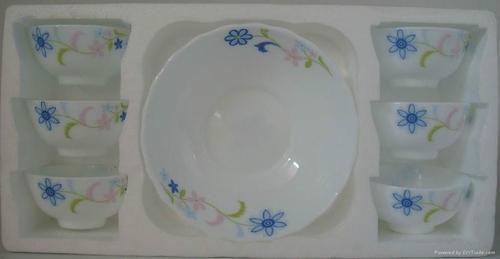 7pcs pudding set, opalware