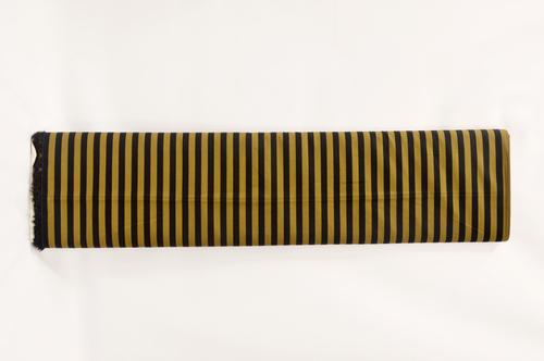 100% Cotton Yellow White Stripes Shirting Fabric