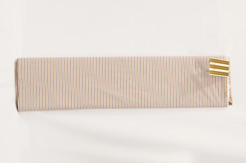 100% Cotton Brown Yellow Stripe Shirting Fabric