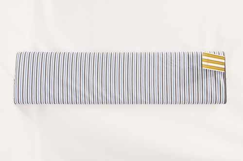 100% Cotton Blue Black Stripe Shirting Fabric