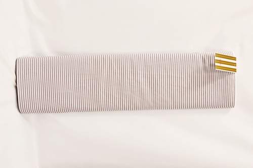 100% Cotton Brown Stripe Shirting Fabric