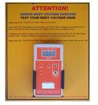 HUMAN BODY VOLTAGE CHECKER WITH HAZARD ALARM