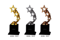 Beautiful Gold Star Trophies