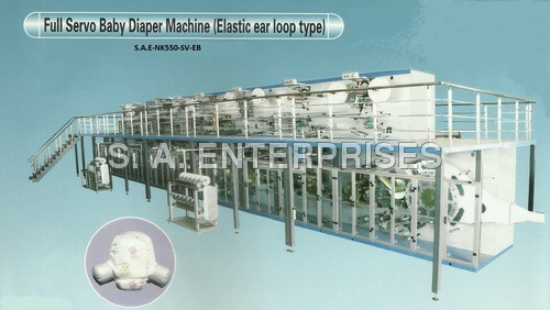 Full Servo Baby Diaper Machine (Elastic ear loop type)
