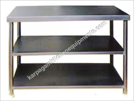 Stainless Steel  Self Table