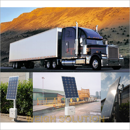 Solar powered weighbridge system