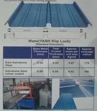 Klip lock roofing system