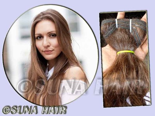 No synthetic natural weft silky curly hot quality hair ex