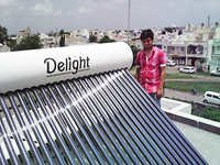 Homemade solar water heater