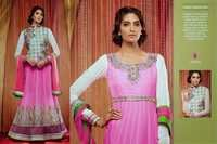 Pink Designer Floor Length Suit