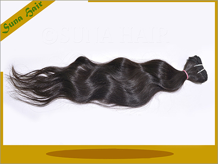 machine weft silky curly natural remy virgin hair