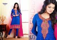 Pink & Blue salwar Kameez