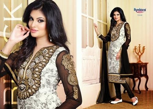 Black & White Salwar kameez