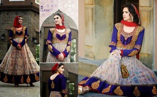 Printed Georgette Net Anarkali Suit
