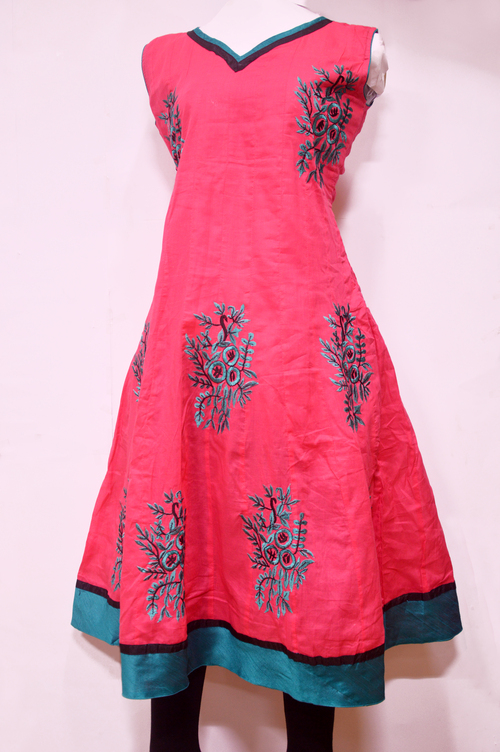 Cotton Cemaric Embroidery Kurti
