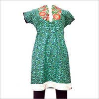 Cotton Embroidery  Kurti