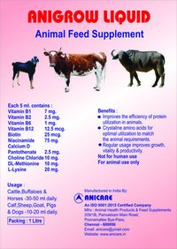 Anigrow Liquid Animal Feed Supplement