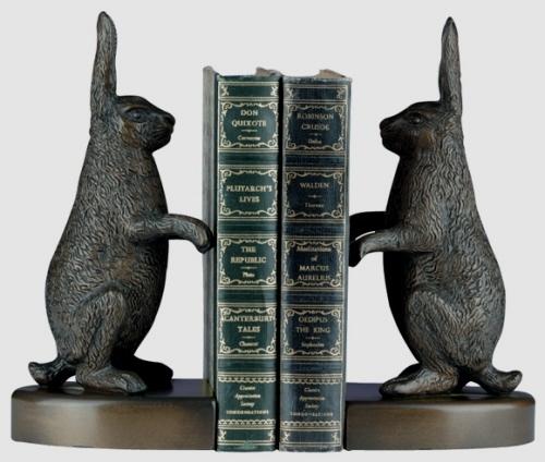 Aluminium Rebbit Bookends