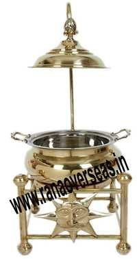 BRASS SHAPE CATERING SERVING CHAFING DISH