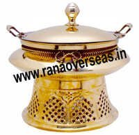 FANCY PART INDIAN BRASS CATERING SERVING DISH