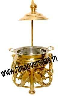 TWIN DOLPHIN BRASS METAL CHAFING DISH