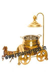 HORSE CART BRASS CATERING CHAFING DISH