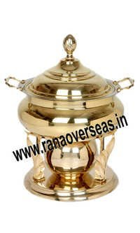 TROPHY SHAPE BRASS METAL CHAFING DISH