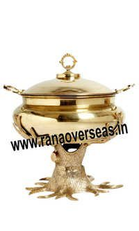 TREE SHAPE BRASS METAL CHAFING DISH
