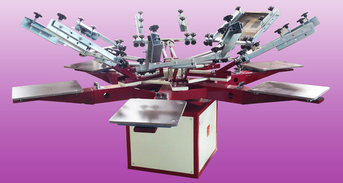 4 Color Manual Screen Printing Machine