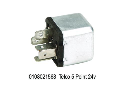 Telco 5 Point 24 V, Square Aluminium Body,