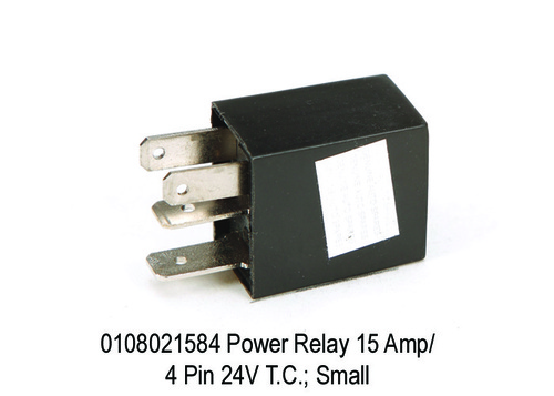 Power  Micro Relay 15 Amp4 Pin 24V T.C.; Small