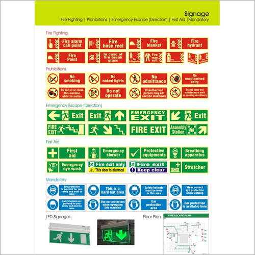 General Safety Signages