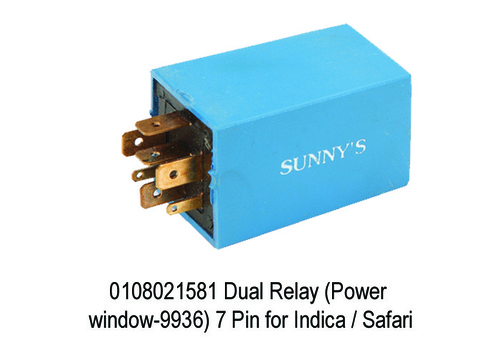 Dual Relay (Power window-9936) 7 Pin for Indica