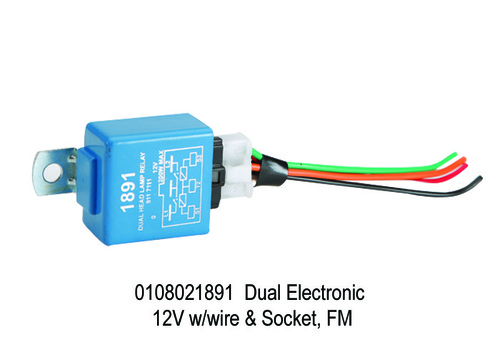 Dual Electronic 12V With Socket & Wire, FM