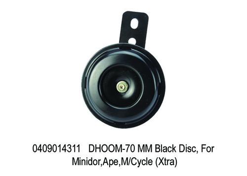 DHOOM-70 MM Black Disc, For Minidor,Ape,M