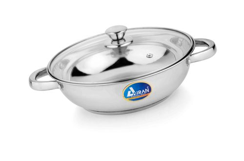 Airan Kadhai with Glass Lid Induction Bottom