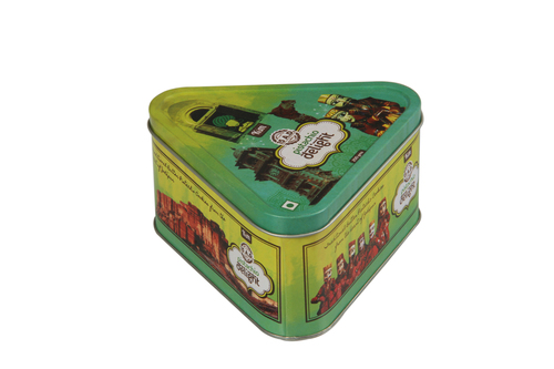 TRIANGULAR TIN BOX