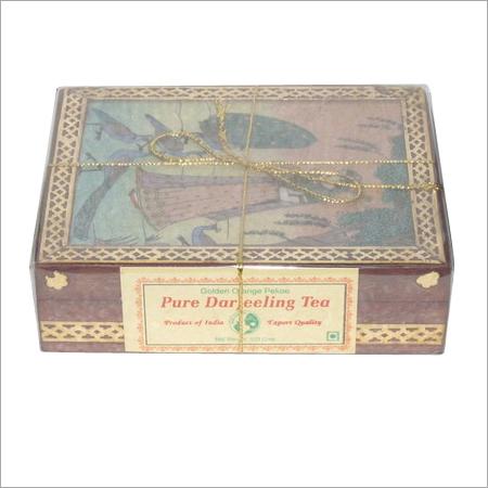 Fresh Darjelling tea packed in Nice Gem stone box