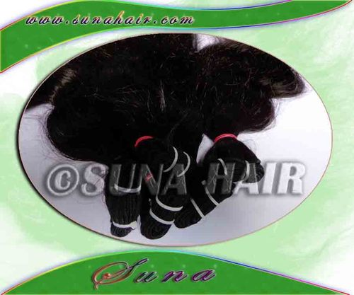 Natural weft silky curly real quality not sedding remy virgin cuticle hair ex
