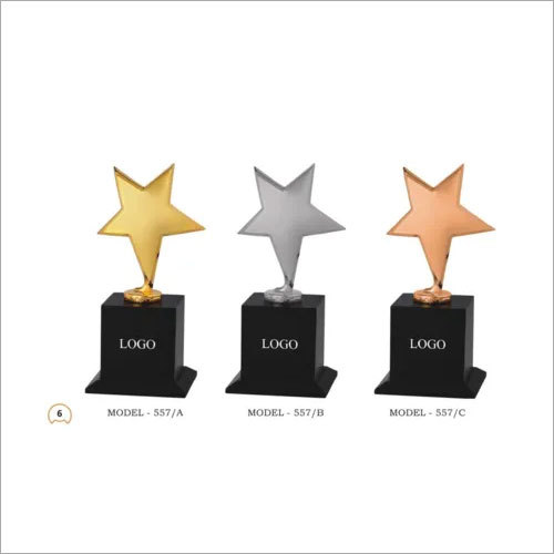 Shining Gold Star Trophy
