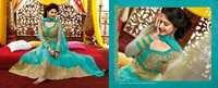 Cyan Designer Long Length Salwar Kameez