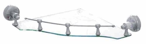 GLASS SHELF CORNER WITH FRAME