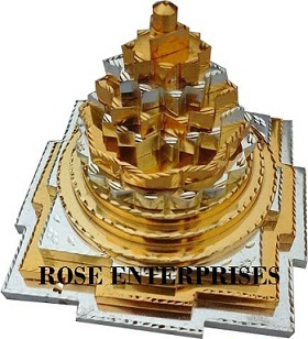 Brass Gold and Silver Plating Meru Shree Yantra