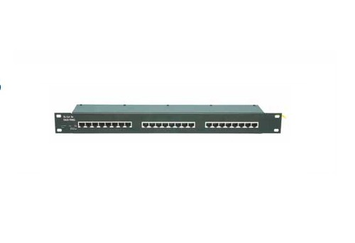 "Surge arrester for Ethernet Cat. 5 or Cat. 5e into 19"" racks"