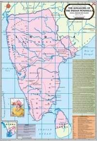 Kingdoms of Indian Cholas,Chalukyas & Pallavas Map