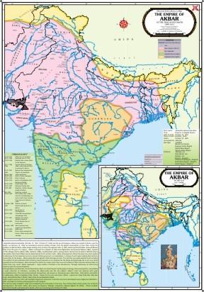 The Empire of Akbar Map