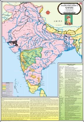The Empire of Aurangzeb Map